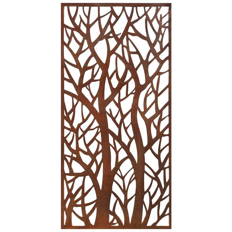 Forest Real Rust Steel Decorative Panel Carrum Downs
